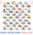 Game Set 06 Building Isometric vector image vector image