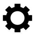 gear wheel silhouette icon cog symbol vector image
