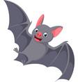 happy flying bat cartoon vector image vector image