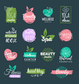health and beauty care labels spa yoga