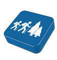 hiking icon vector image vector image