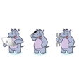 Hippo Mascot with laptop vector image vector image
