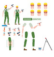 industrial construction worker assembly worker vector image vector image