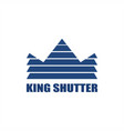 king shutter window logo vector image