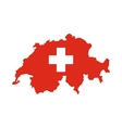 Map of Switzerland icon flat style vector image vector image