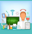 medicine concept pharmacy cartoon style vector image