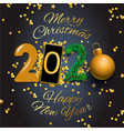 merry christmas and happy new year 2020 greeting vector image vector image