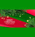merry christmas background with fir tree branches vector image vector image