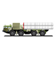 military launch vehicle vector image
