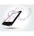 Mobile p hone with abstract lines vector image vector image