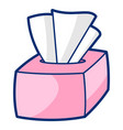 napkins in cartoon style cute vector image