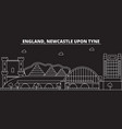 newcastle upon tyne silhouette skyline great vector image vector image