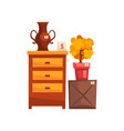old unnecessary things garage sale vector image