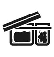 open lunchbox icon simple style vector image vector image