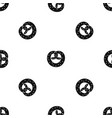 pretzels pattern seamless black vector image vector image