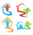 property development and real estate symbols vector image vector image