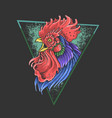 rooster colorful mascot vector image
