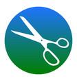 scissors sign white icon in vector image vector image