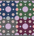 seamless pattern with flowers and leaves mandala vector image