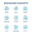 self control blue concept icons set