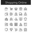shopping icons line outline vector image vector image