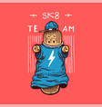 skateboard character label for typography vintage vector image vector image