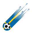 soccer ball with the flag of sweden vector image vector image