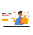 social media star concept vector image vector image