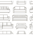 sofa set pattern vector image vector image
