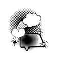 speech bubble pop art style vector image vector image