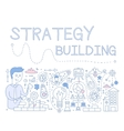 Strategy Building vector image