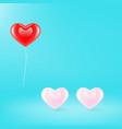 three hearts icon vector image vector image