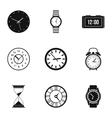 Time dimension icons set simple style vector image