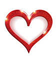 Valentine s Day Heart Symbol Red vector image vector image