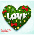 valentines day natural template vector image
