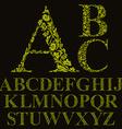 Vintage style floral letters font alphabet vector image