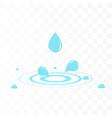 water drop with water splash vector image vector image