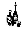 wine whiskey bottle icon simple style vector image