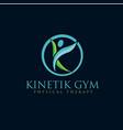 yoga care logo designs vector image vector image