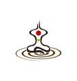 yoga health center vector image vector image