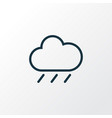 rainfall outline symbol premium quality isolated vector image