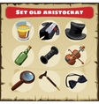 Set old aristocrat nine things of a great men vector image