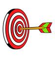 target icon icon cartoon vector image