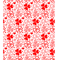 Floral seamless of red hearts vector image