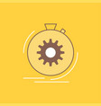 action fast performance process speed flat line vector image