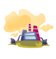 air pollution plant or factory emissions and vector image vector image