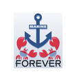 anchor and crabs sailors marine forever vector image vector image
