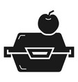 apple fruit lunchbox icon simple style vector image vector image