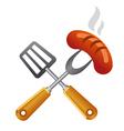 barbecue symbol vector image vector image