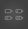 Battery set icons draw effect vector image vector image